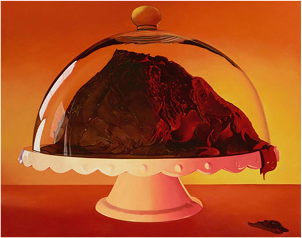 Volcano Cake painting